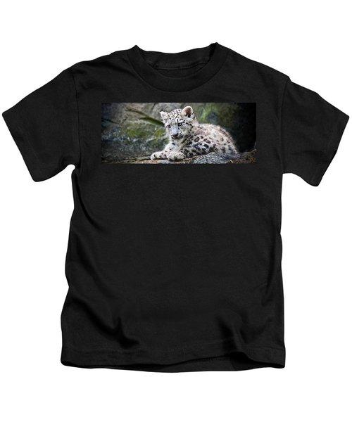 Snow Leopard Cub Kids T-Shirt