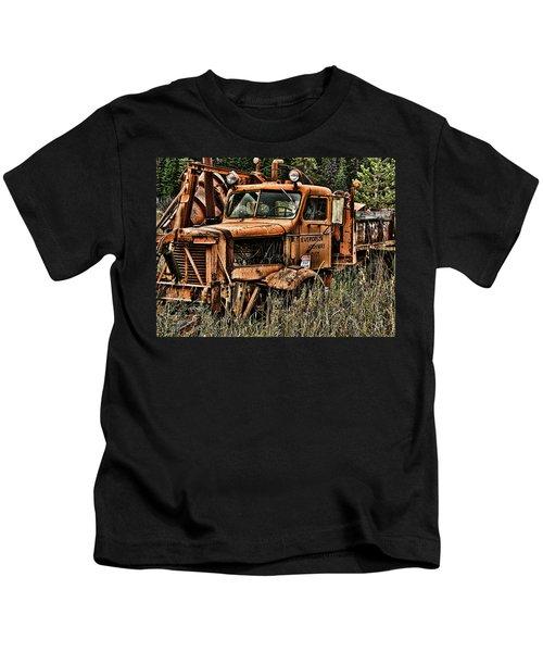 Snow Plow Kids T-Shirt
