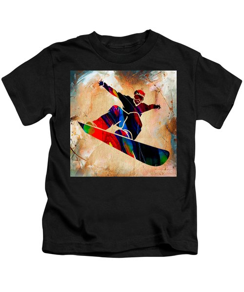 Snowboarder Painting Kids T-Shirt