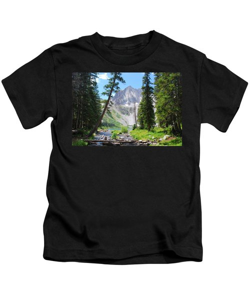 Snowmass Peak Landscape Kids T-Shirt