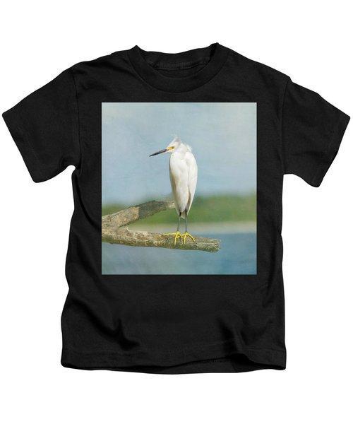 Snowy Egret Kids T-Shirt