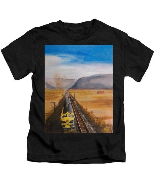 Somewhere West Of Corning Kids T-Shirt