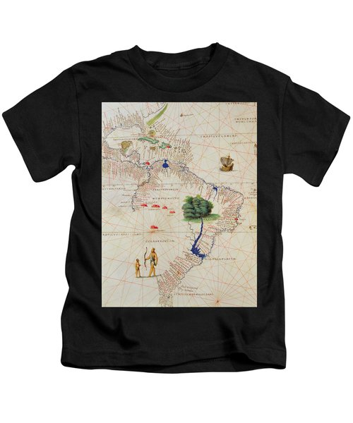 South America, From An Atlas Of The World In 33 Maps, Venice, 1st September 1553  Kids T-Shirt