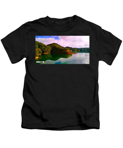 North Holston Lake Mountains Kids T-Shirt