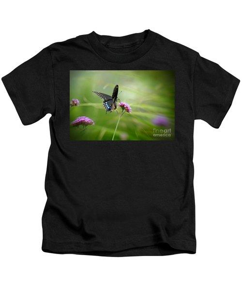 Spicebush Swallowtail Butterfly Kids T-Shirt