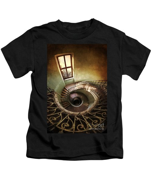 Spiral Staircaise With A Window Kids T-Shirt