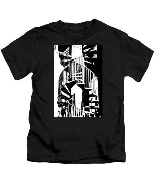 Spiral Stairs Kids T-Shirt