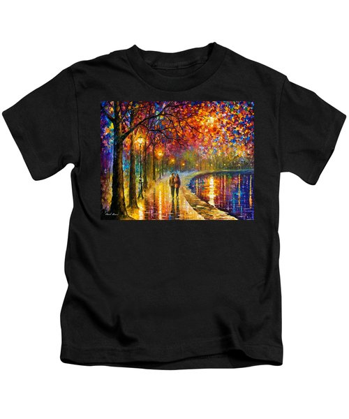 Spirits By The Lake - Palette Knife Oil Painting On Canvas By Leonid Afremov Kids T-Shirt