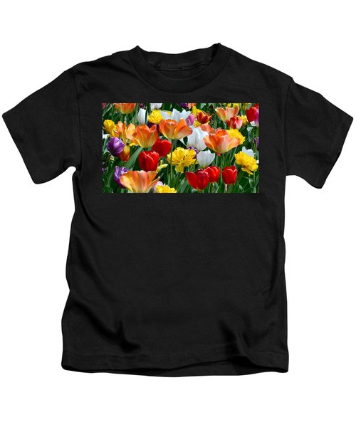 Kids T-Shirt featuring the photograph Splash Of Spring by William Jobes