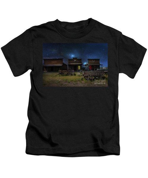 Spooky Ghost Town Kids T-Shirt