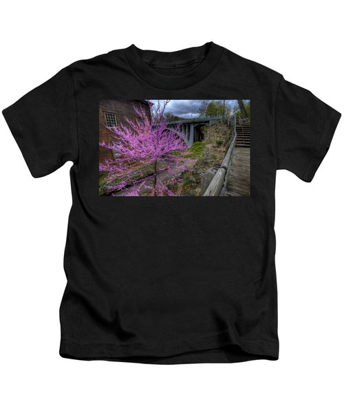 Spring At The Mill Kids T-Shirt