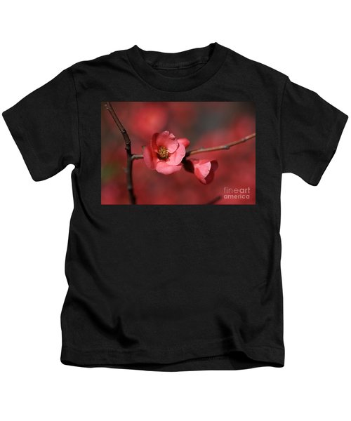 Spring Richness - Flowering Quince Kids T-Shirt