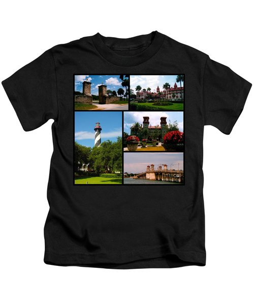 St Augustine In Florida - 2 Collage Kids T-Shirt