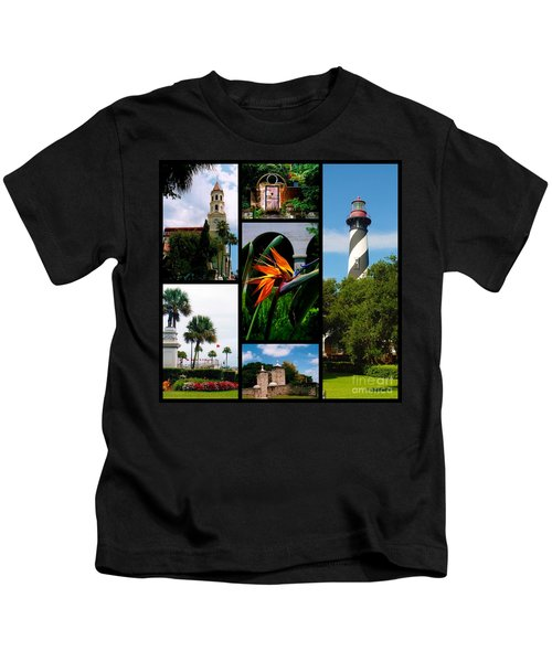 St Augustine In Florida - 3 Collage Kids T-Shirt