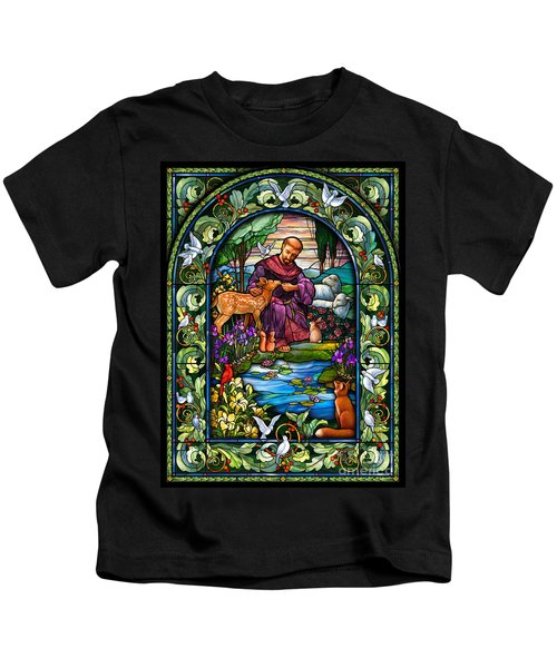 St. Francis Of Assisi Kids T-Shirt