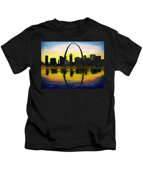 St. Louis Sunset Kids T-Shirt
