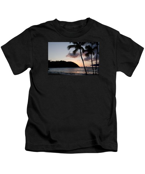 St. Lucian Sunset Kids T-Shirt