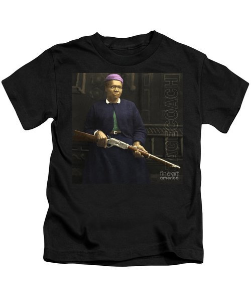 Stagecoach Mary Fields 20130518 Square With Text Kids T-Shirt