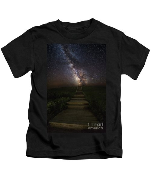 Stairway To The Galaxy Kids T-Shirt