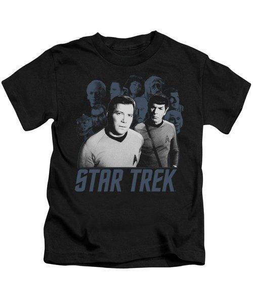 Star Trek - Kirk Spock And Company Kids T-Shirt