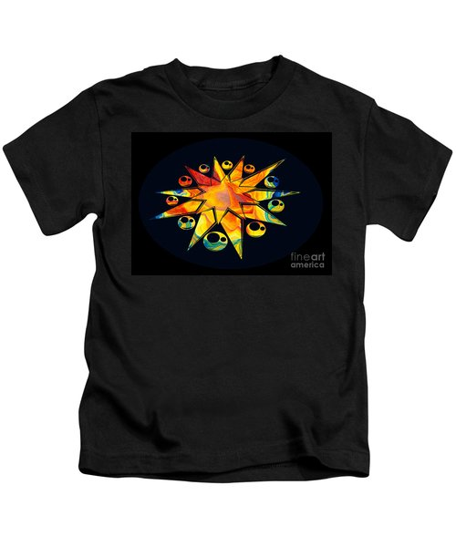 Staring Into Eternity Abstract Stars And Circles Kids T-Shirt