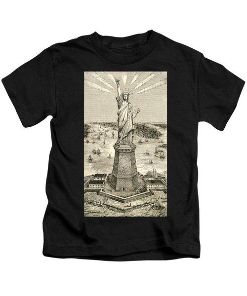 Statue Of Liberty, New York Kids T-Shirt