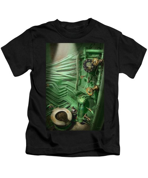 Steampunk - Naval - Plumbing - The Head Kids T-Shirt