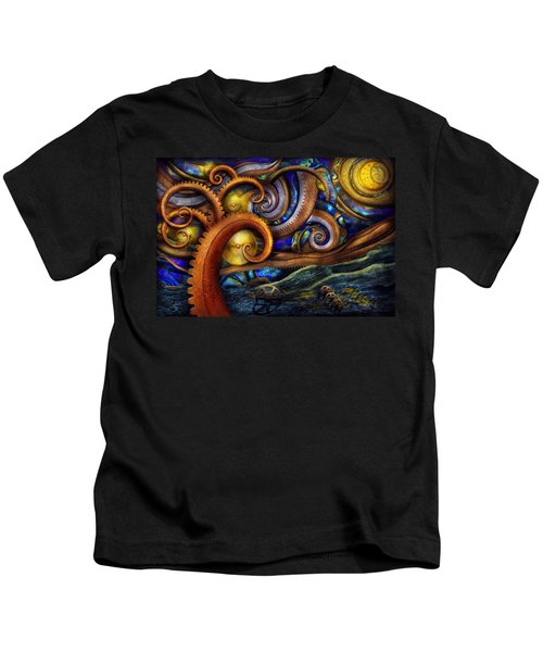 Steampunk - Starry Night Kids T-Shirt