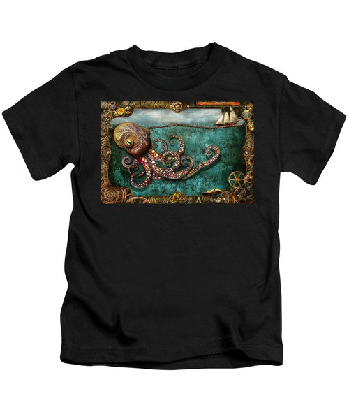 Steampunk - The Tale Of The Kraken Kids T-Shirt