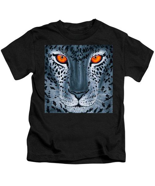 Steel Leopard Kids T-Shirt