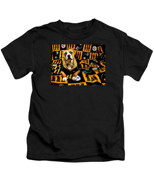 Pitbull Rescue Dog Football Fanatic Kids T-Shirt