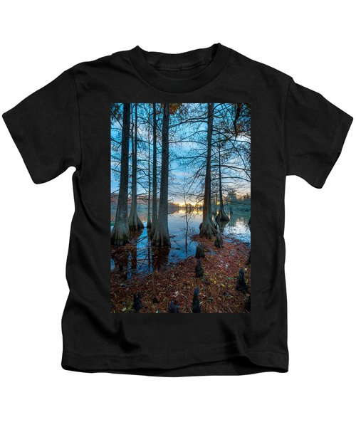 Steinhagen Reservoir Vertical Kids T-Shirt