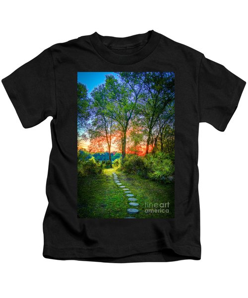 Stepping Stones To The Light Kids T-Shirt
