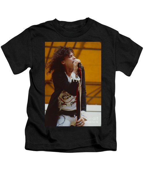 Steven Tyler Of Aerosmith At Monsters Of Rock In Oakland Ca Kids T-Shirt