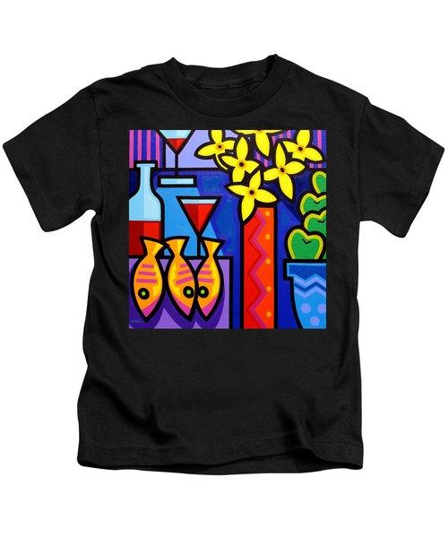 Still Life With 3 Fish  Kids T-Shirt