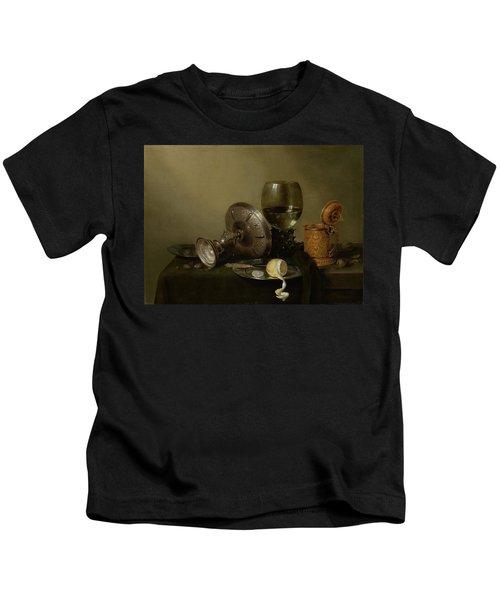 Still Life With A Gilt Cup Kids T-Shirt