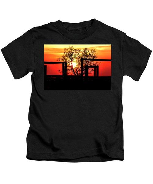 Stockyard Sunset Kids T-Shirt