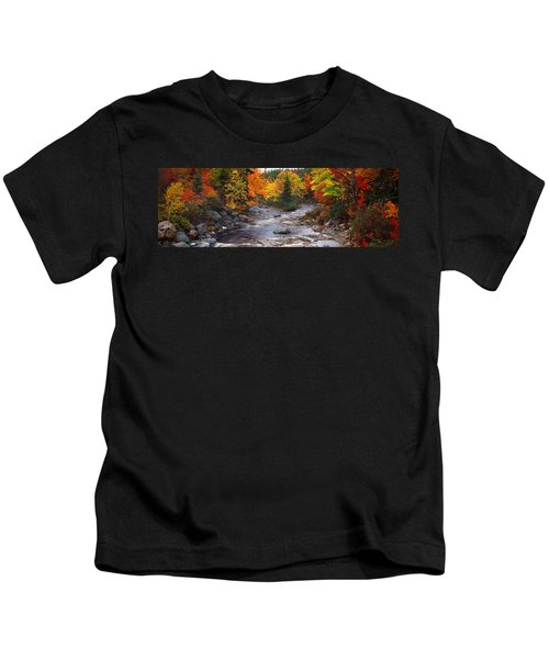 Stream With Trees In A Forest Kids T-Shirt