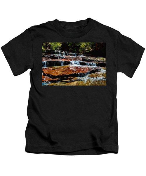 Subway Falls Kids T-Shirt