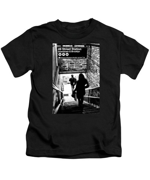 Subway Shadows Kids T-Shirt