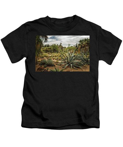 Succulents At Huntington Desert Garden No. 3 Kids T-Shirt