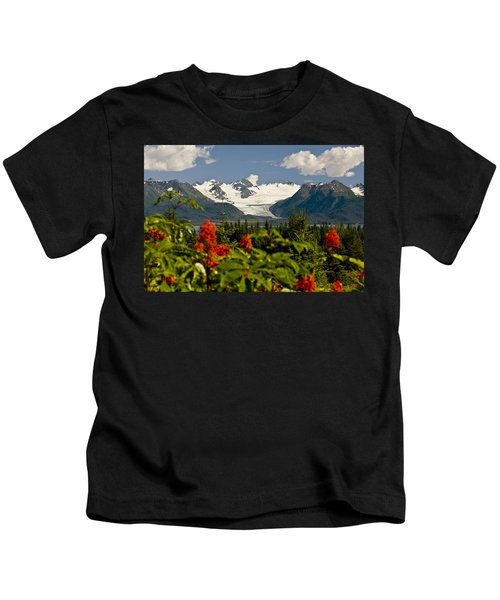 Summer Scenic Of Grewingk Glacier And Kids T-Shirt