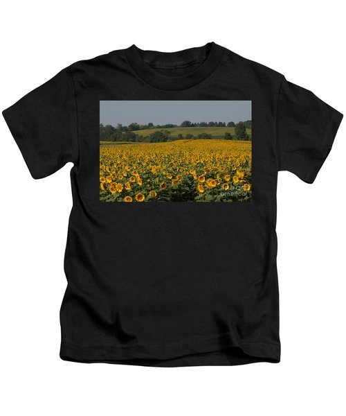 Sun Flower Sea Kids T-Shirt
