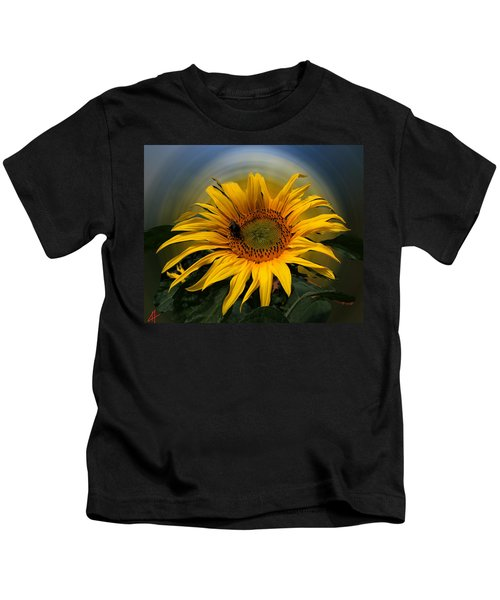 Kids T-Shirt featuring the photograph Sun Flower Summer 2014 by Colette V Hera  Guggenheim