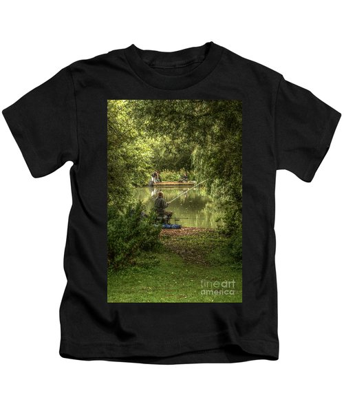 Sunday Fishing At The Lake Kids T-Shirt