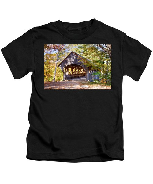 Sunday River Covered Bridge Kids T-Shirt