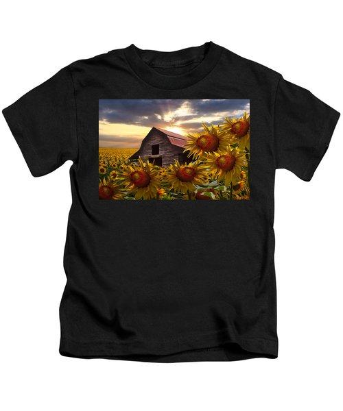 Sunflower Dance Kids T-Shirt