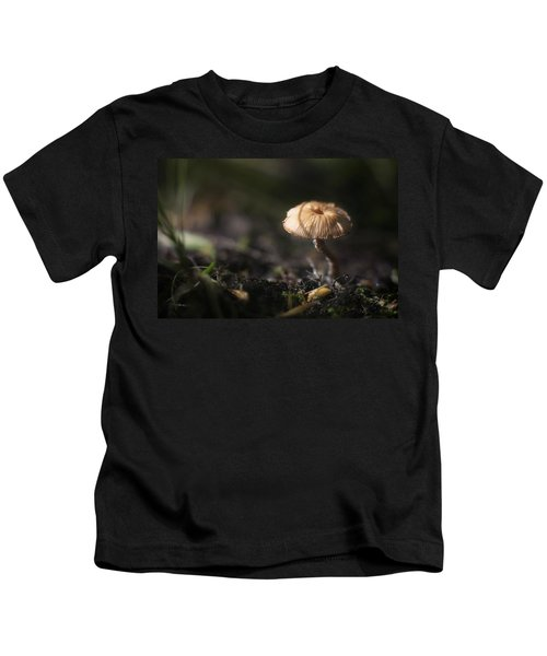 Sunlit Mushroom Kids T-Shirt