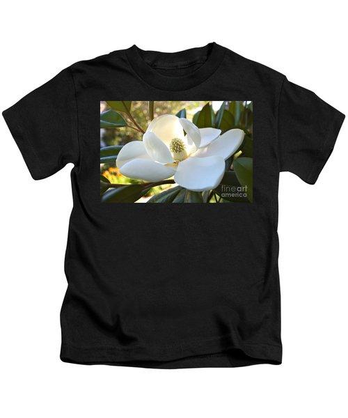 Sunlit Southern Magnolia Kids T-Shirt