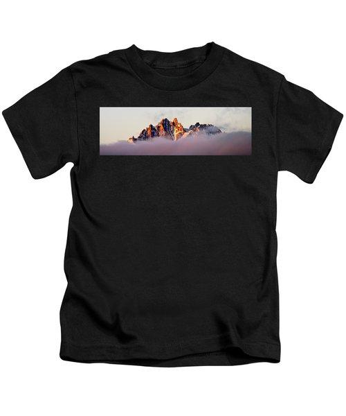 Sunrise On An Island In The Sky Kids T-Shirt